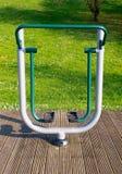 De apparatuur van de oefening in een park Stock Fotografie