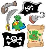 De apparatuur van de piraat inzameling Stock Afbeeldingen