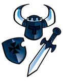 De apparatuur van de ridder stock illustratie