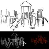 De Apparatuur van de speelplaats Royalty-vrije Stock Foto's