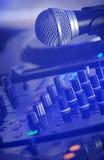 De apparatuur van DJ detail Stock Foto