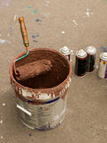 De apparatuur van Graffiti Stock Foto's