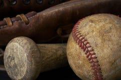 De apparatuur van het honkbal Stock Fotografie