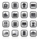 De apparatuur van het huis pictogrammen Stock Foto's