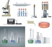 De Apparatuur van het laboratorium vector illustratie