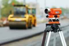 De apparatuur van het onderzoek bij het asfalteren royalty-vrije stock afbeeldingen
