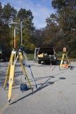 De apparatuur van het onderzoek klaar voor het werk stock foto