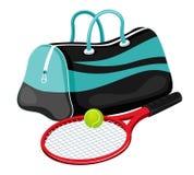 De apparatuur van het tennis vector illustratie