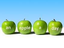De appel een Dag houdt weg de Arts Stock Afbeelding