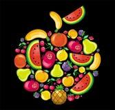 De appel van het fruit Stock Afbeeldingen