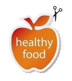 De appel van het pictogram door gezond voedsel. stock illustratie