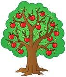 De appelboom van het beeldverhaal Royalty-vrije Stock Foto's