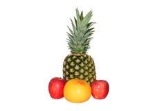 De appelen van de ananasgrapefruit stock afbeeldingen