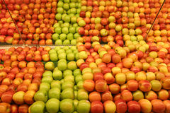 De Appelen van de kruidenierswinkel Stock Foto's