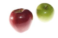 De appelen van de rij Stock Foto