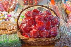 De appelen van het suikergoed Stock Foto