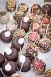 De appelen van het suikergoed stock afbeeldingen