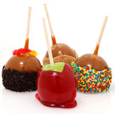De Appelen van het suikergoed stock foto's