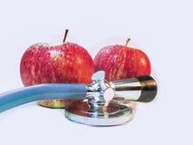 De appelen zijn goed voor gezondheid Stock Foto