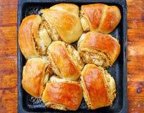 De appeltaart van de grootmoeder Stock Foto's
