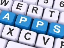 De Appssleutels toont Webtoepassing of Toepassingen royalty-vrije stock afbeelding