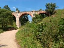 De aquaducten van de Klepojciespoorweg Stock Afbeeldingen