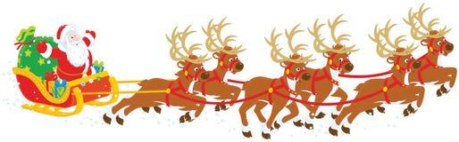 De ar van Kerstmis van de Kerstman Royalty-vrije Stock Afbeelding