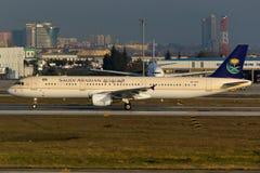 A321 de Arabia Saudita Fotografía de archivo