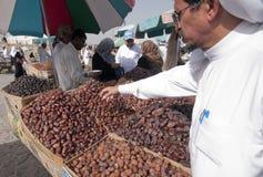 De Arabieren verkopen verse data op data in Medina Royalty-vrije Stock Afbeeldingen