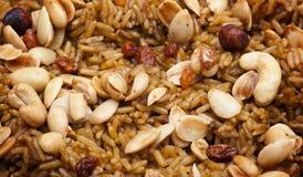 De Arabische Close-up van de Rijst van de Maaltijd (Kabsa) Stock Fotografie