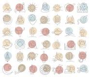 De Arabische reeks van het woestijnpictogram vector illustratie