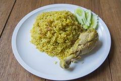 De Arabische rijst van het Halalvoedsel Stock Foto