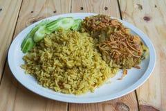 De Arabische rijst van het Halalvoedsel Royalty-vrije Stock Afbeelding