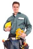 De arbeider van de bouwer Stock Foto