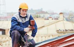De arbeider van de bouwers roofer schilder royalty-vrije stock fotografie