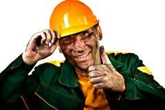 De arbeider van de de olieindustrie van het portret stock fotografie