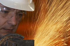 De arbeider van de molen stock fotografie