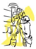 De arbeider van de olie Stock Afbeeldingen