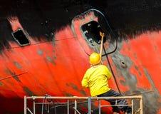 De arbeider van de scheepswerf royalty-vrije stock foto