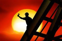 De arbeider van het dak Royalty-vrije Stock Afbeelding