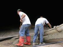 De Arbeiders van de Contractant van het cement Royalty-vrije Stock Afbeelding