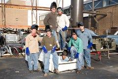De Arbeiders van de fabriek Stock Afbeeldingen