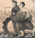 De Arbeiders van de fabriek en van het Gebied Royalty-vrije Stock Foto's