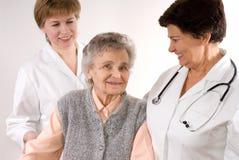 De arbeiders van de gezondheidszorg stock foto's