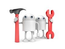 De arbeiders van de robot Stock Afbeeldingen