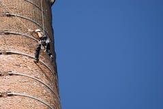 De Arbeiders van de schoorsteen Stock Foto's