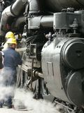 De arbeiders van de spoorweg stock foto