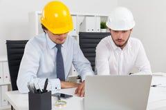 De arbeiders van het bouwbedrijf Royalty-vrije Stock Foto