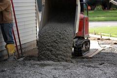De arbeiders van het cement Stock Foto