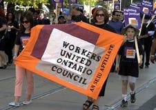 De arbeiders Verenigde Raad van Ontario Stock Fotografie